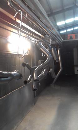 Ceramic Coating Cerakote Glacier Black C-7600 - Ford XE ESP Extractors (3)