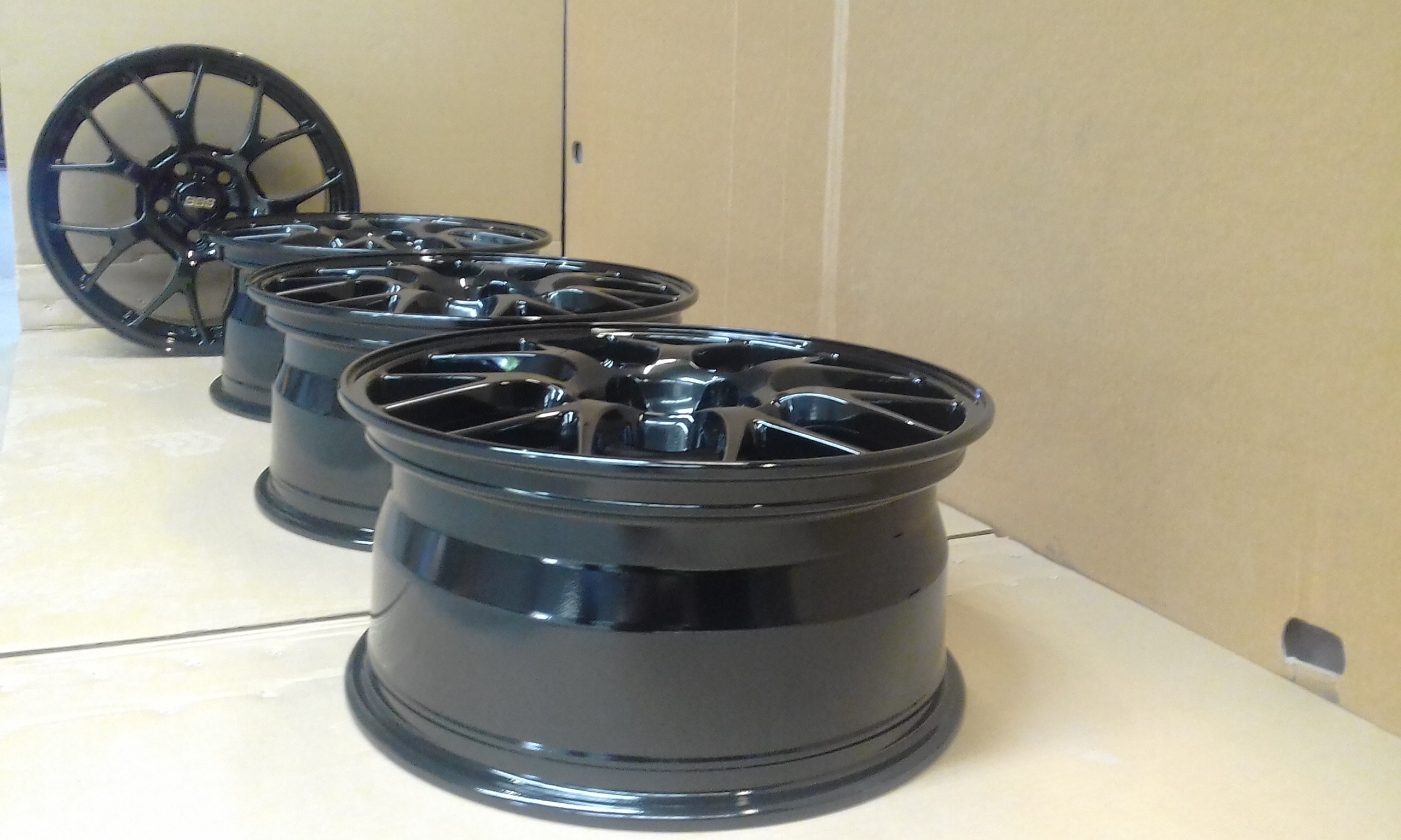 Powdercoat - Oxytec Jet black - BBS wheels 2