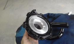 Powder coating - Wet black - detailed masking Garrett turbo