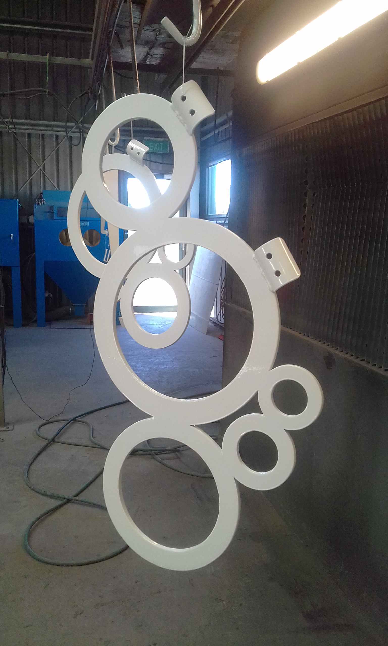 Powder coating - Pearl white - custom works