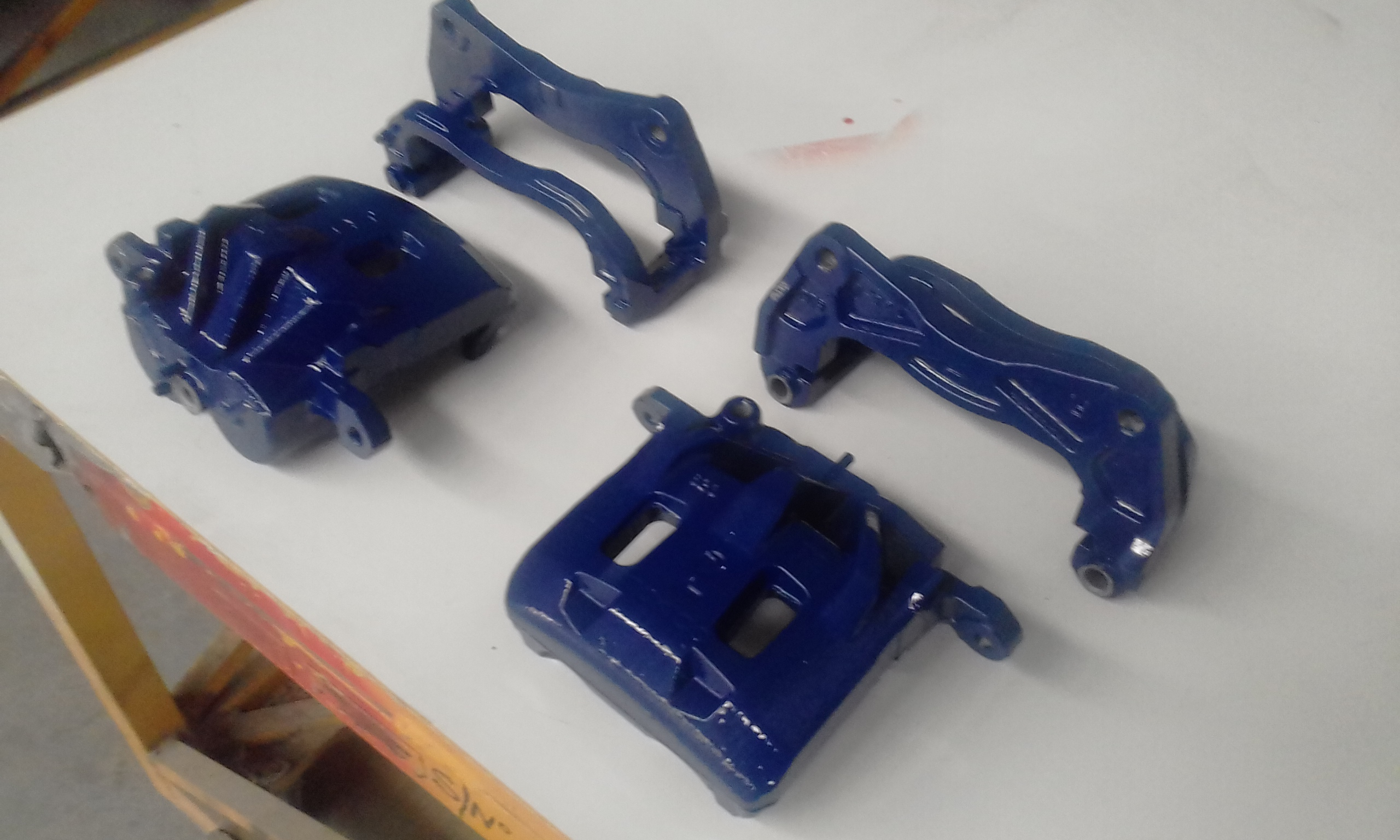 Powder coating - Oxytec space blue - subaru break units (2)