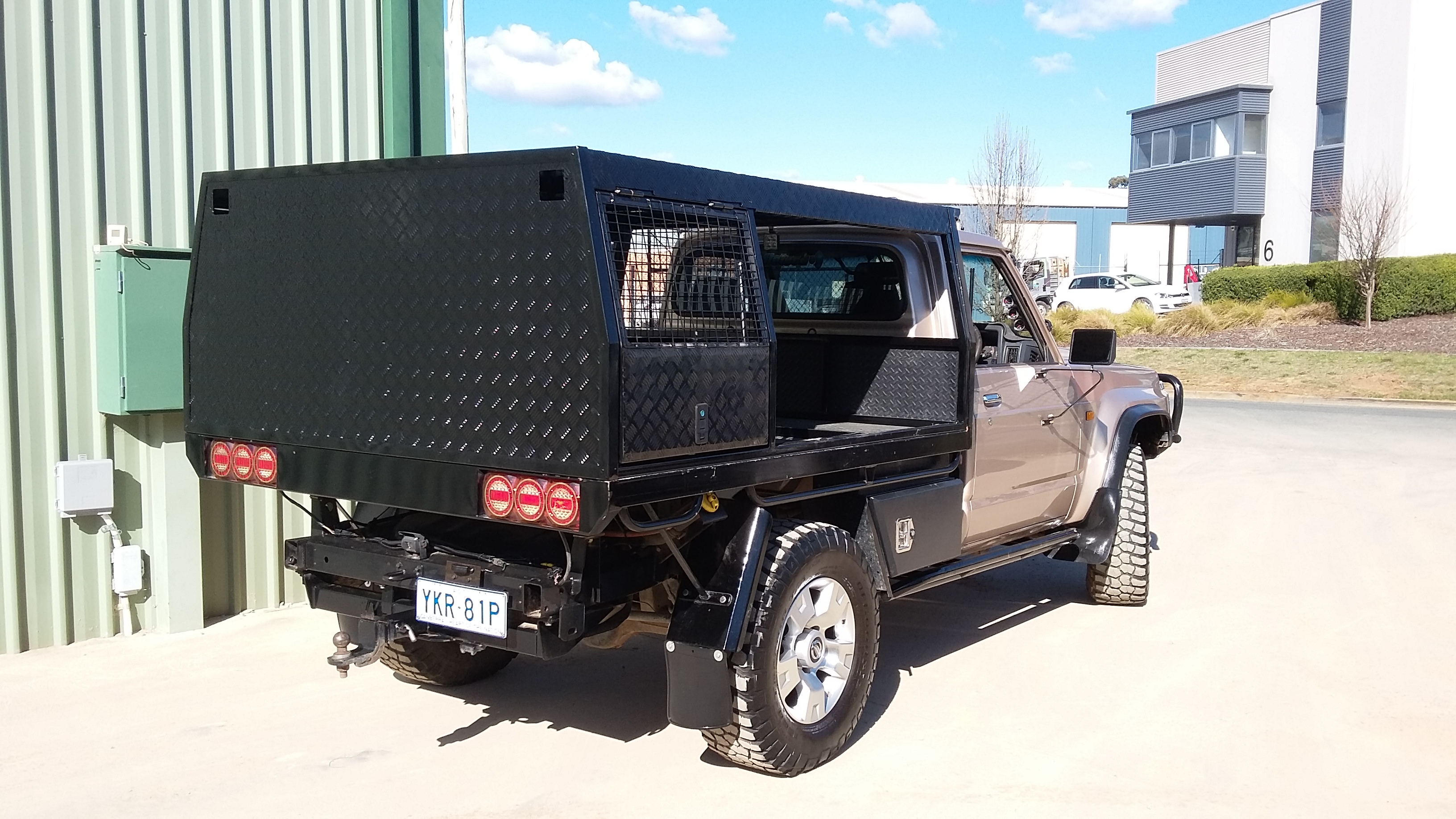 Powder coat - Oxytec Jet black Gloss - Custom ute tray 1