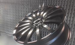 Powder coat - Oxytec Jet black Gloss - Merc wheels