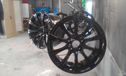 Powder coating - oxytec wet black - Racecar