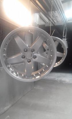 Powder coating - Oxytec silver pearl - HSV ROH Wheels
