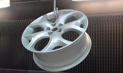 Powder coat - Oxytec Silver pearl - Mazda wheel