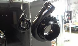 Powder coat - Oxytec Wet Black - Turbos