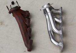 old manifold v new glaicer chrome