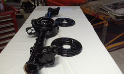 Powder coated - Oxytec Jett Black Gloss - Diff housing ford 9inch for HQ