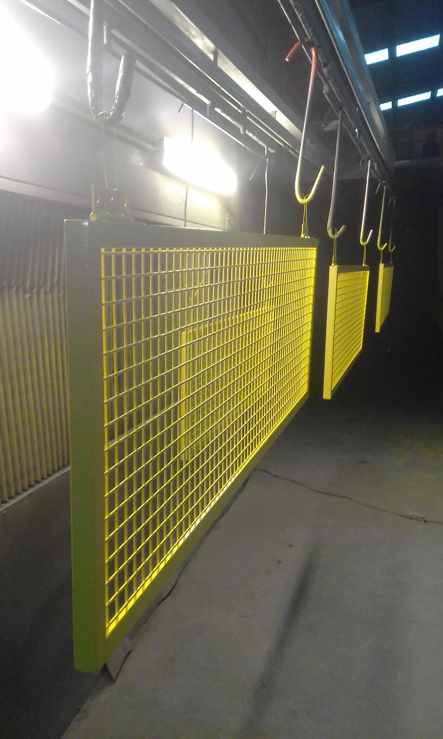 Powder coating - Lemon Yellow - HVAC Grates