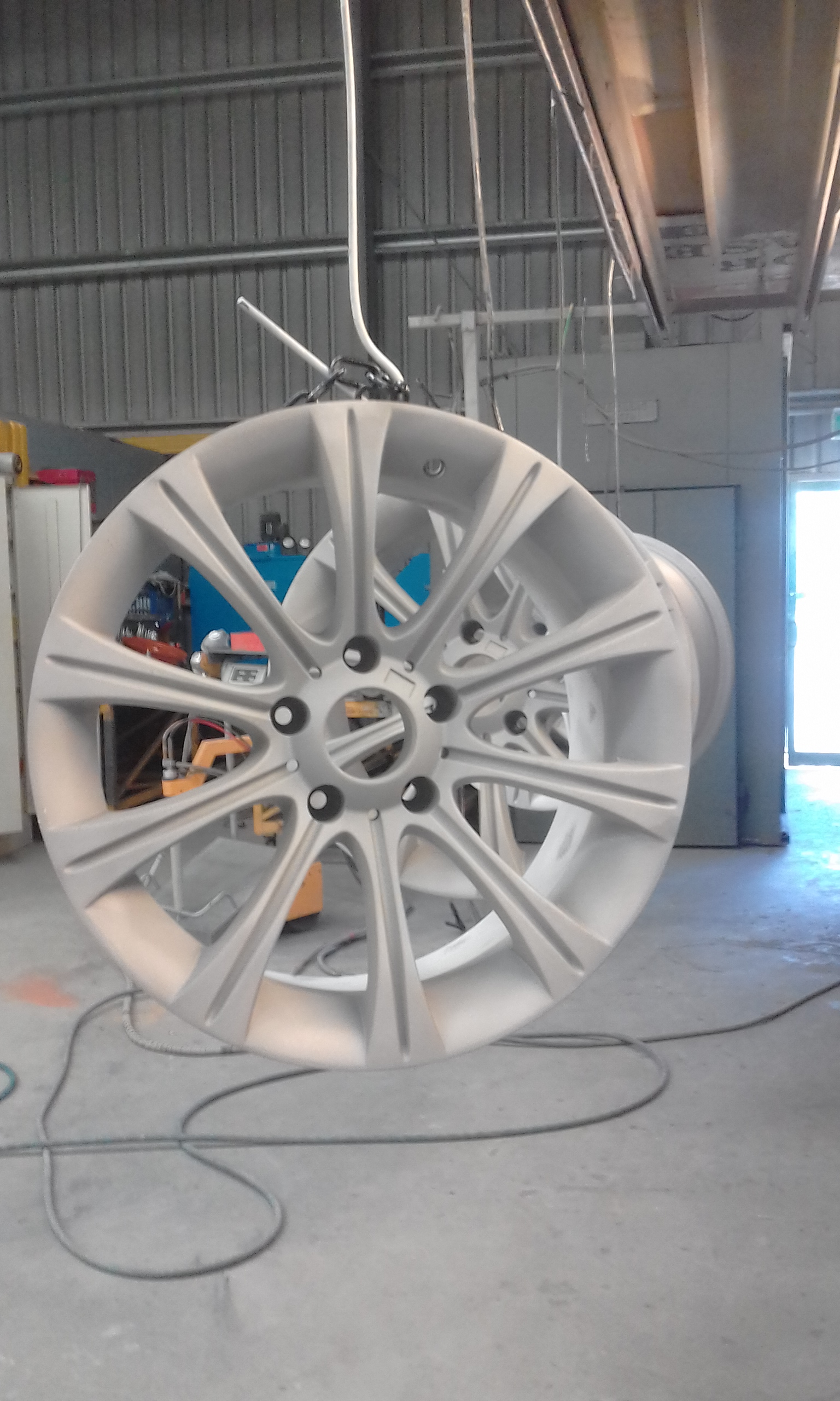 Abrasive blasting - Race wheels