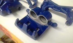 Powder coating - Oxytec space blue - subaru break units