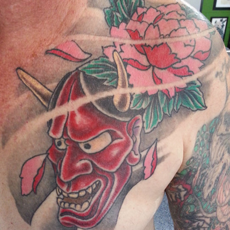 japanese tattoo chest