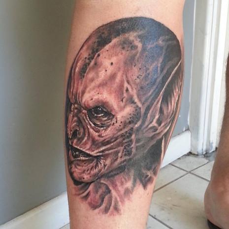 Marcus Corvinus vampire tattoo
