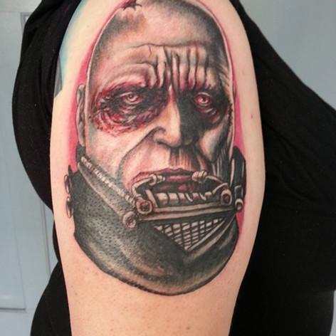 Darth Vader with no Helmet tattoo
