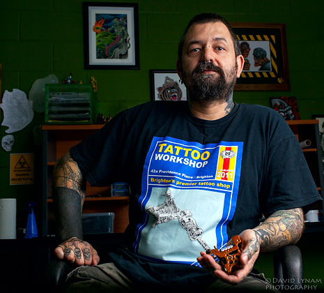 Good Vibrations Tattooist, Aaron Soffe.