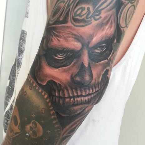 Skull boy tattoo