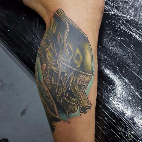 Alien tattoo