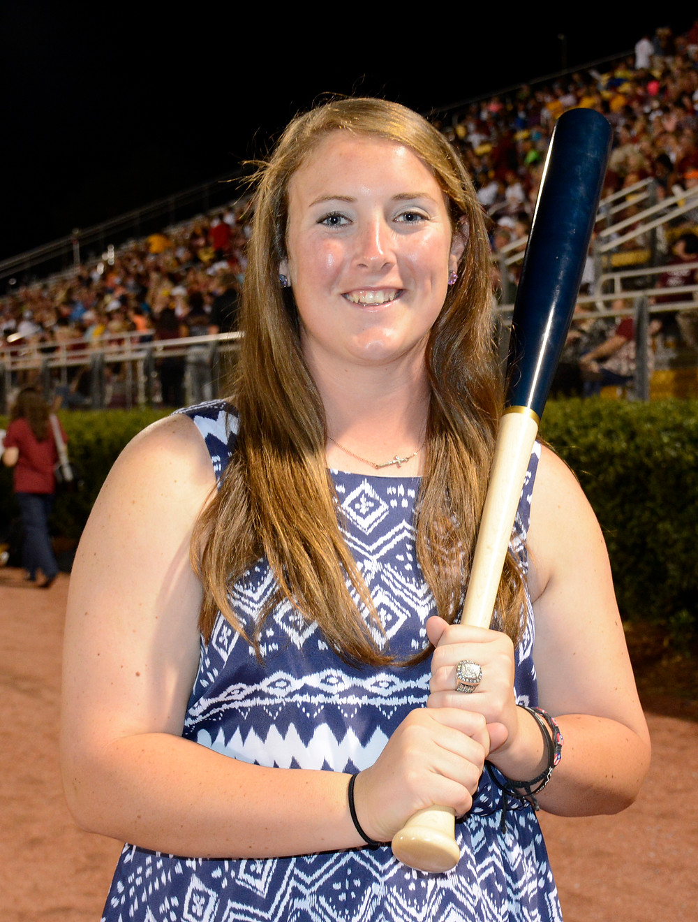 tori dew with bat award.jpg