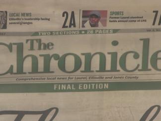 The Chronicle shuts down