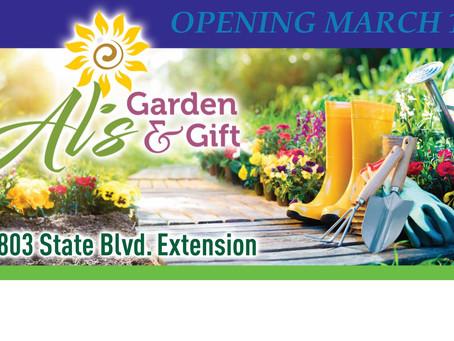 Al's Garden and Gift Mon-Fri, 8a-6p & Sat 8a-4p   601-453-3853