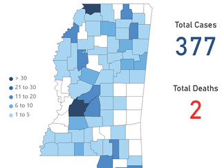 Mississippi COVID-19 Update: 57 new cases