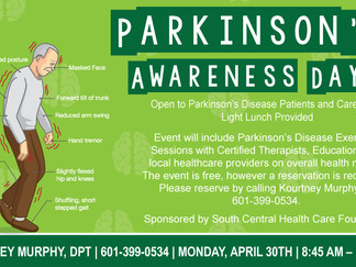 South Central Regional Medical Center Hosts Parkinson's Awareness Day Event