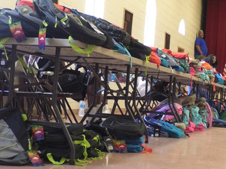 Non-profit organization gives over 700 backpacks away