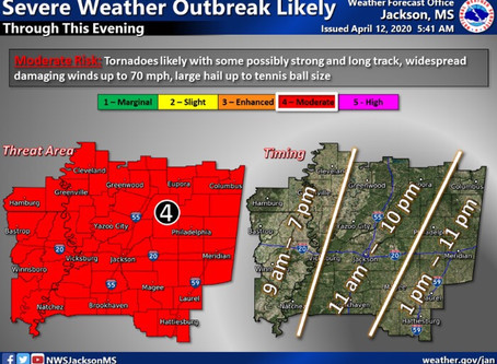 Threat of Severe Easter Sunday Storms