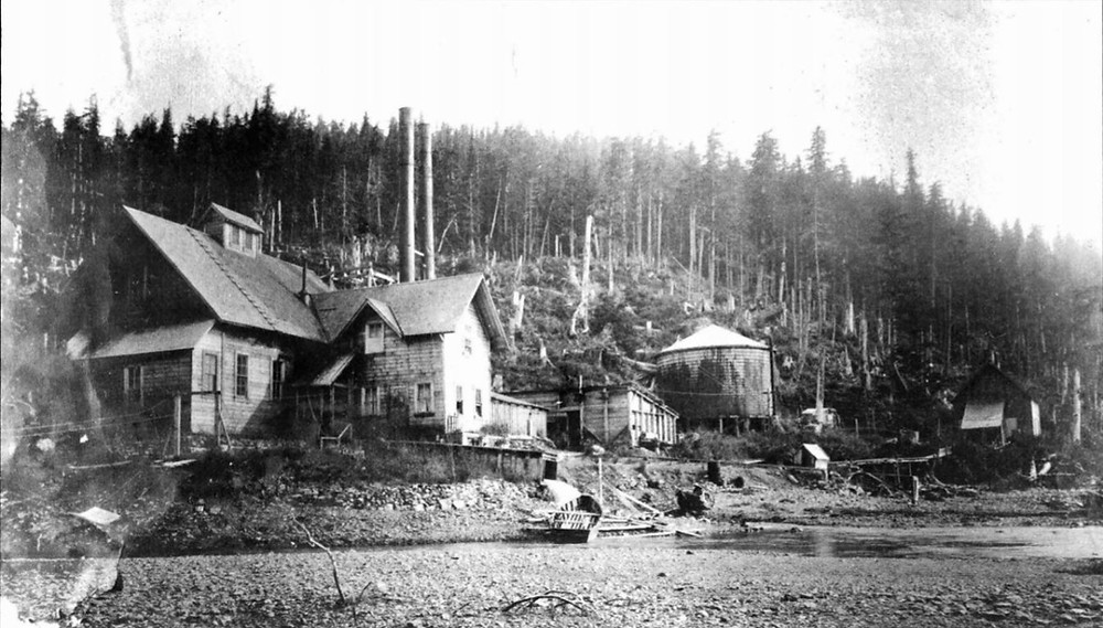 Cordova hydro plant photo from 1910