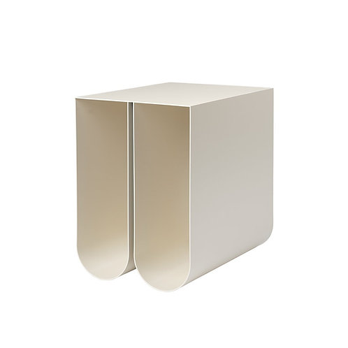 Curved side table, Sidebord, Beige