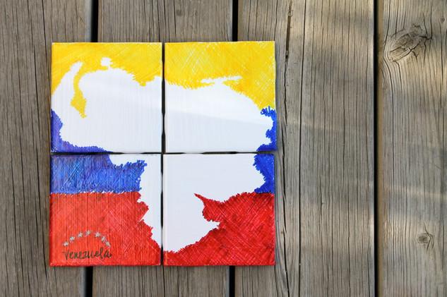 Mapa de Venezuela Blanco