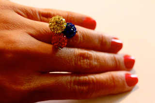 Ring yellow, blue, red | $18