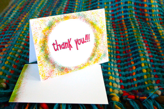 Circle | Thank you | One card $5 Package 6 $25