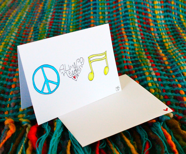 Peace & music | One card $5 Package 6 $25