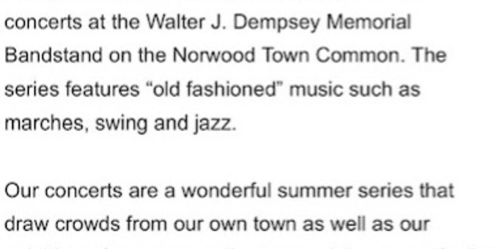 Norwood Summer Concert Series