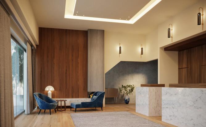 HOTEL LOBBY INTERIOR REDESIGN