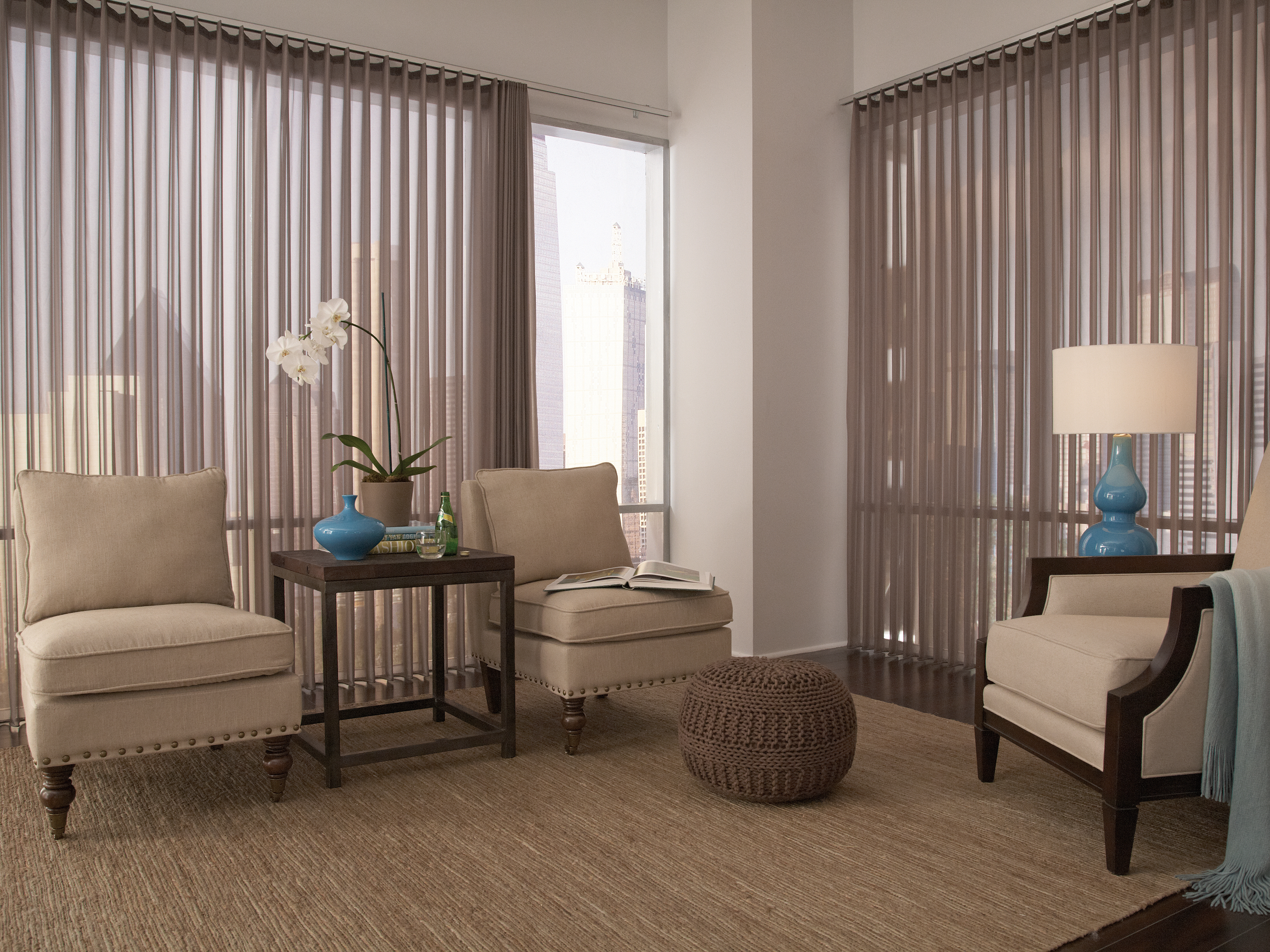 Sheer Wrapped Vertical Blind