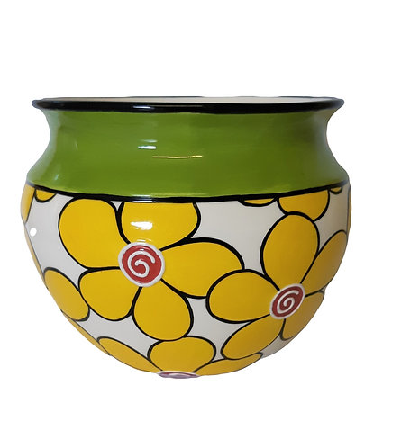 YELLOW DAISIES PLANTER