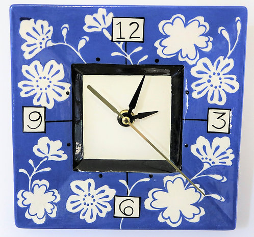 CERAMIC CLOCK Barrington Blue