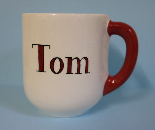 Capri Ceramic Mug - RED