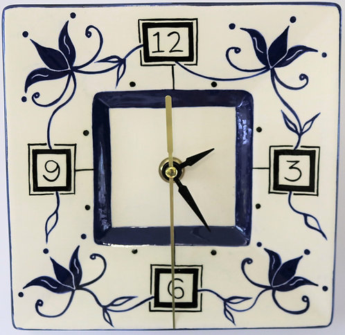 CERAMIC CLOCK Navy Blue