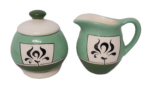 2 GREENS LIDDED JAR & JUG
