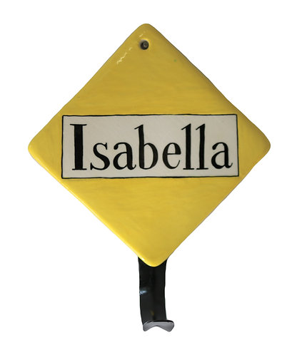 NAME TILE HANGER - Yellow