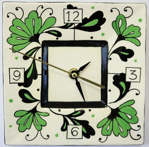 CERAMIC CLOCK Gregor Green