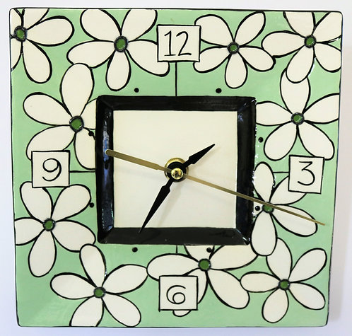 CERAMIC CLOCK Gracie Green