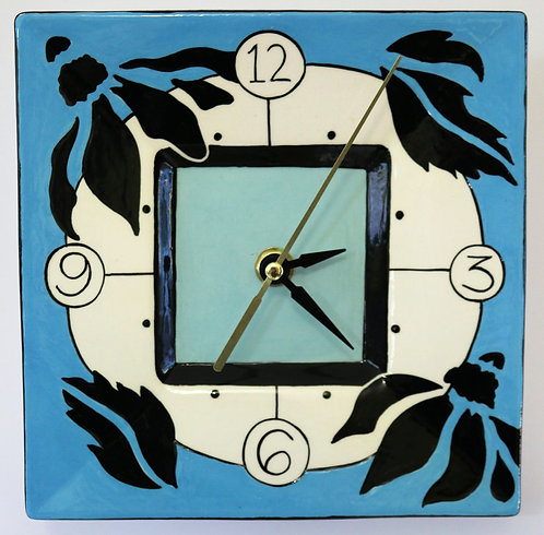 CERAMIC CLOCK Turquoise Blue