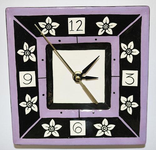 CERAMIC CLOCK Violet