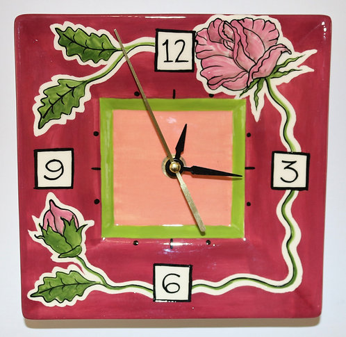 CERAMIC CLOCK Rose