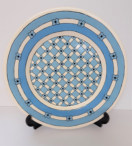 BLUE FLOWERS PLATE